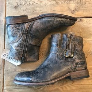 Bed-Stu Becca Ankle Boot in Black Lux Size 10 NWT